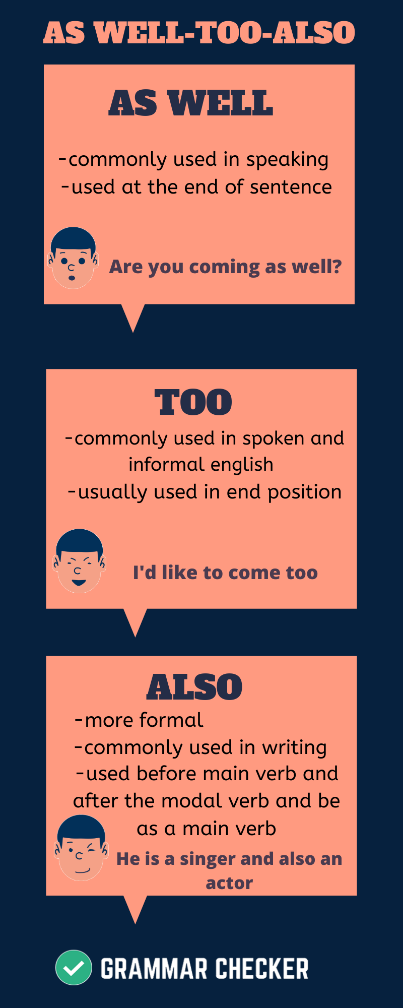 Grammar check online AS WELLTOOALSO (Infographic) in