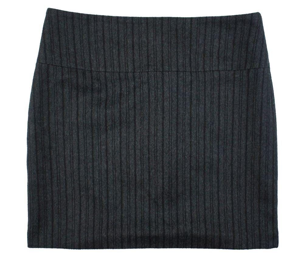 Off white flannel coat  BANANA REPUBLIC Size  Charcoal Gray u Black Stripe Wool Flannel