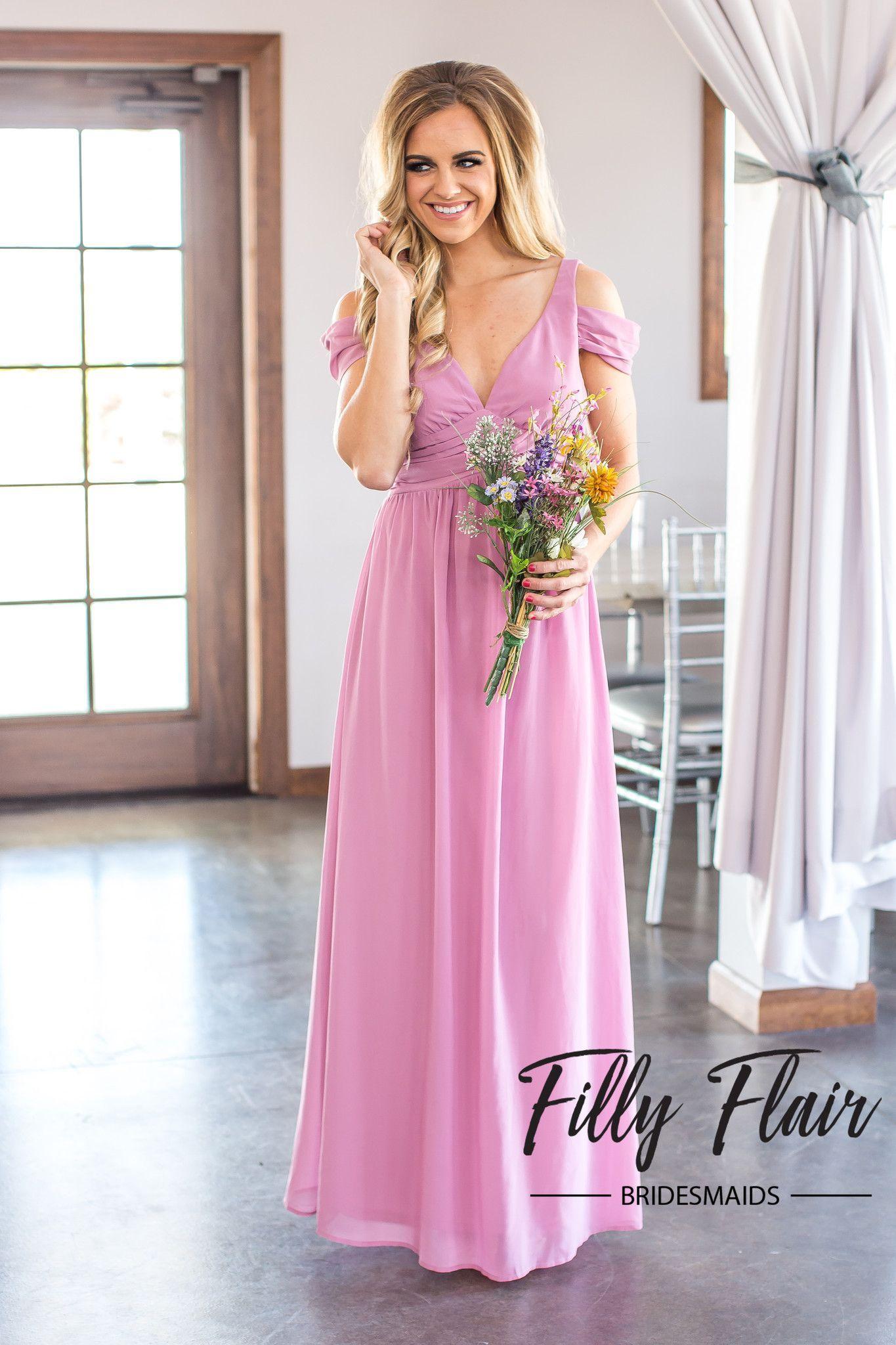 Madison Bridesmaid Dress in Pink
