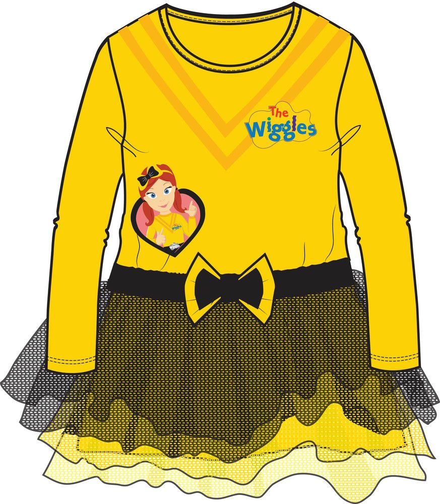 The Wiggles Long Sleeve Yellow Costume Dress Size 3