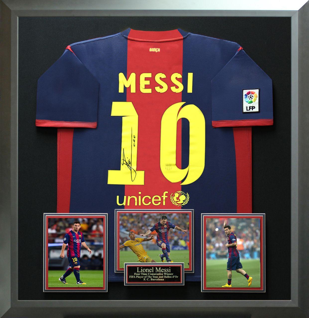 Signature Royale - Lionel Messi Autographed 2014 - 2015 Barcelona ...