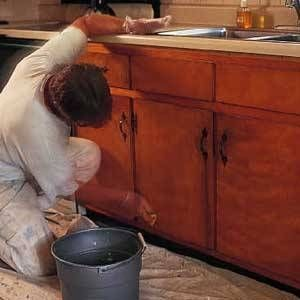 How to Paint Over Stained Kitchen Cabinets | Kitchens, Household ...