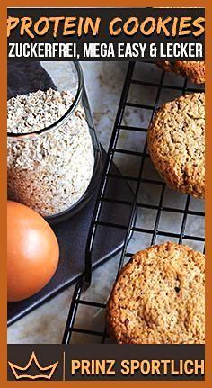 Protein Cookies: 4 gesunde & eiweißreiche Rezept-Varianten #Cookies #eiweißreiche #Fitness food logo...