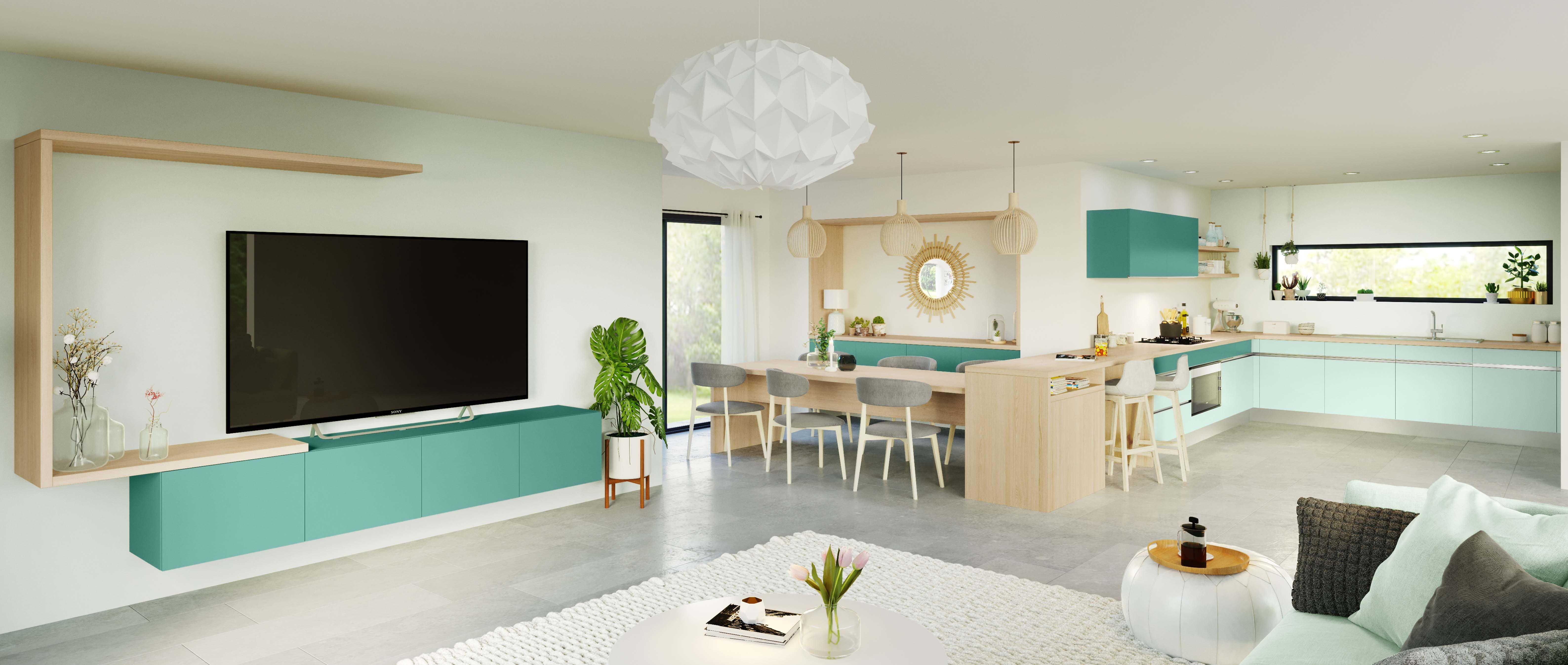 Nos Cuisines Design Moderne Bois Avec Ilot Decoration