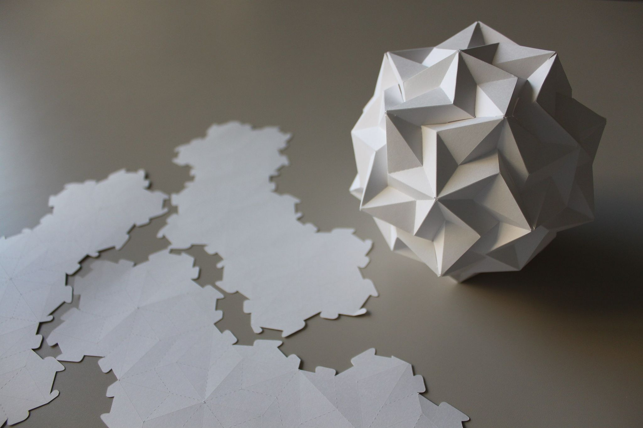 Dodecahedron Paradigma | Origami, Paper folding and Kirigami - photo#31