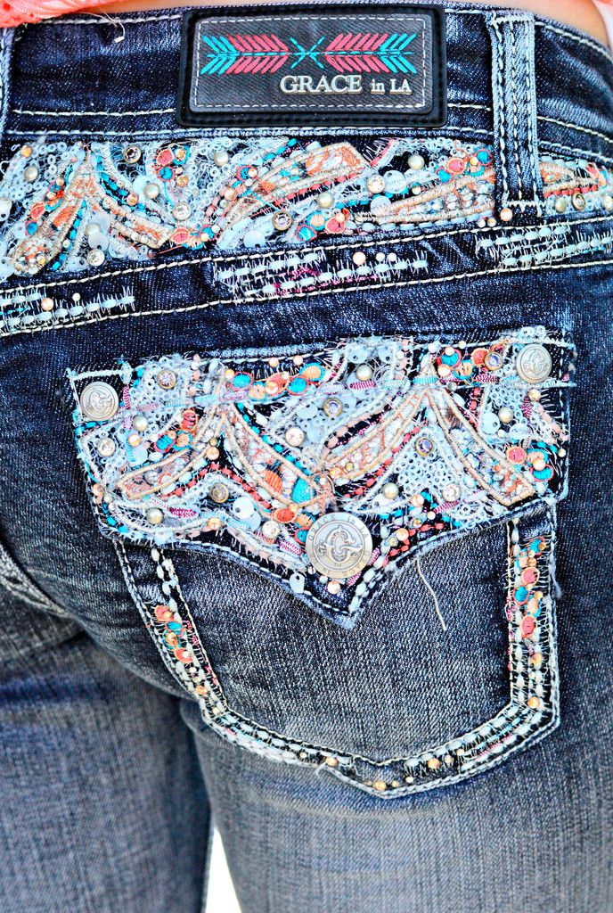 e9f32801030 GRACE IN L.A. CAST A SPELL BOOTCUT JEANS