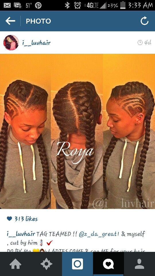 Two under braids with shaved side | Goddess Braids in 2018 ...