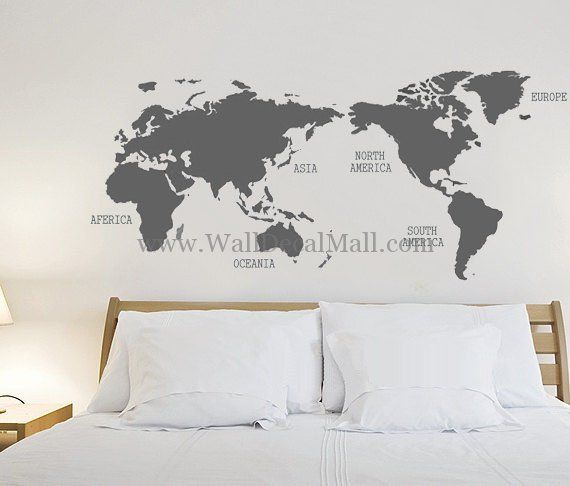 World map wall decals walldecalmall urban wall decals world map wall decals walldecalmall gumiabroncs Images