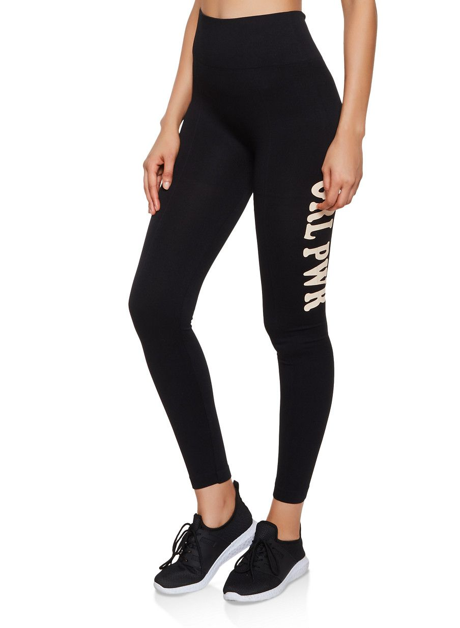 GRL PWR Leggings - Black - Size L #stripedleggings