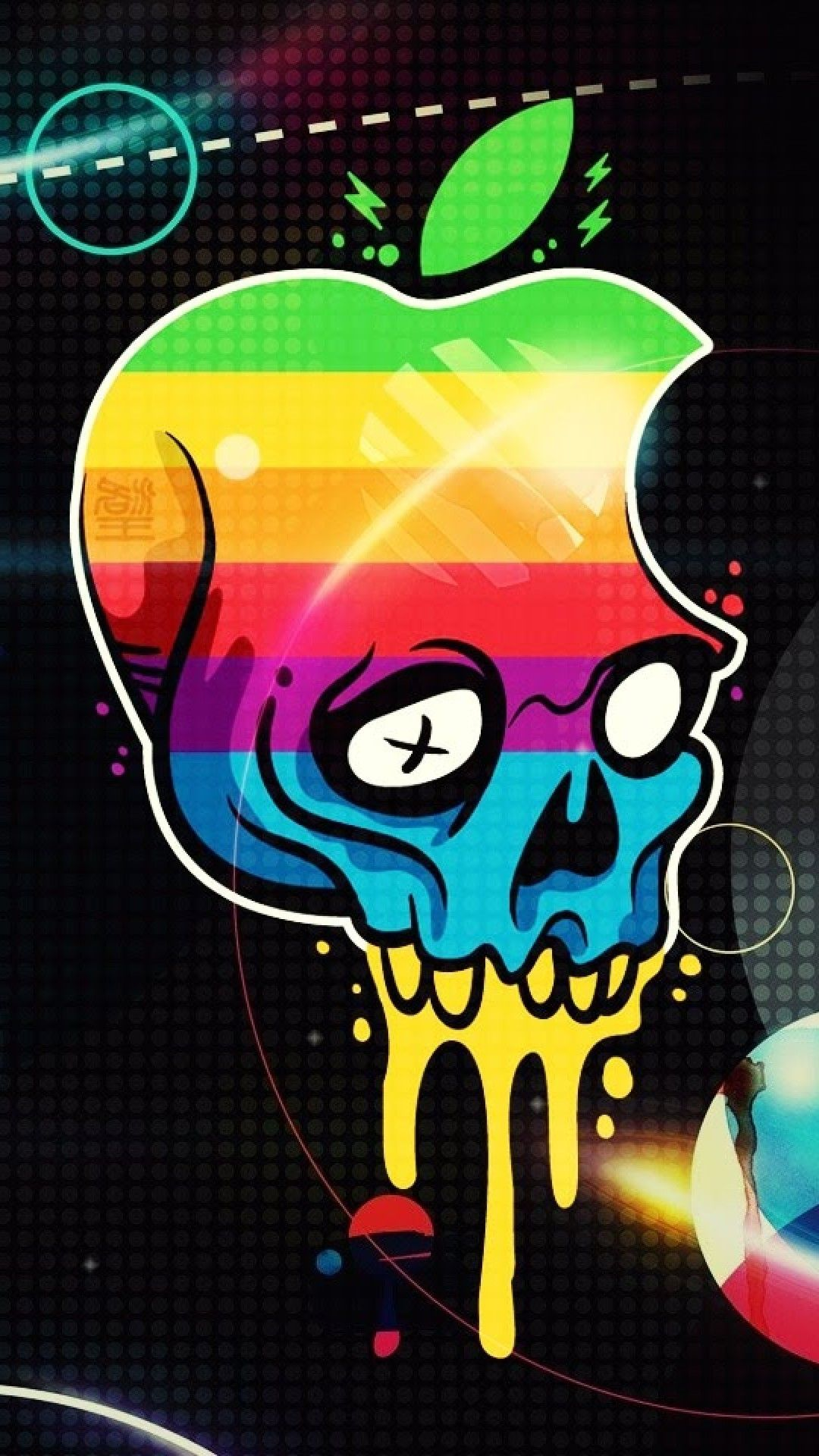 Apple Iphone S Wallpaper Graffiti Skull Logo