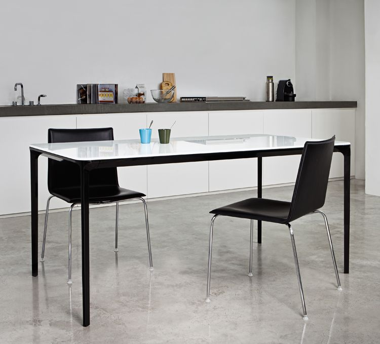 Sovet Slim 8 Extending Glass Dining Table | Contemporary ...