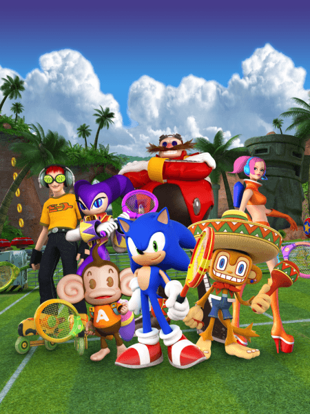 Sega Superstars Tennis Xbox 360 Ps3 Wii Ps2 Ds Official Artwork Nights Into Dreams Sega Sonic Art