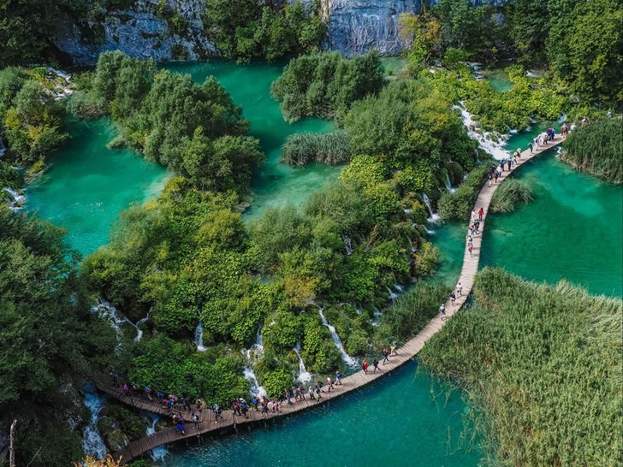 Lake Boardwalk Image, Croatia