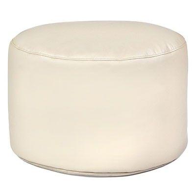 #Sitzsack von Pushbag - Drum Kunstleder: beige