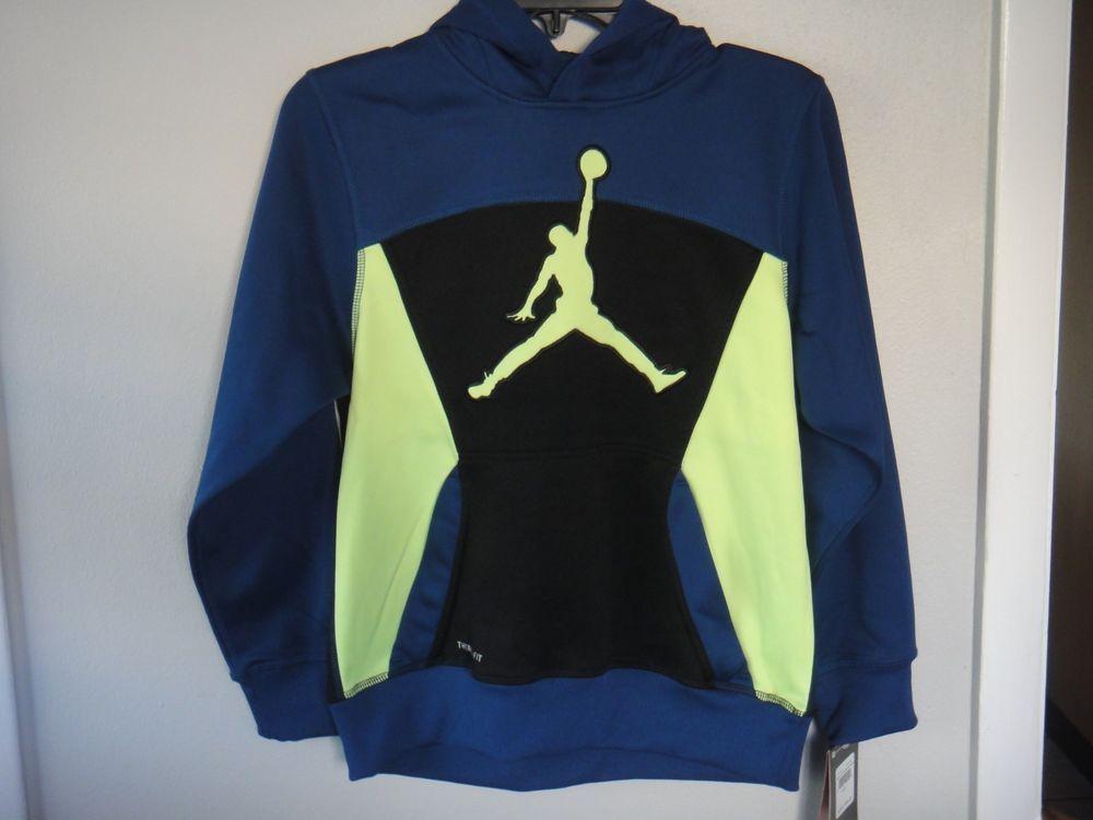 113c372f97b9 Michael Jordan Hoodie Jacket Therma Fit Insignia Blue Size Boys L 12-13  years  Nike  Hoodie
