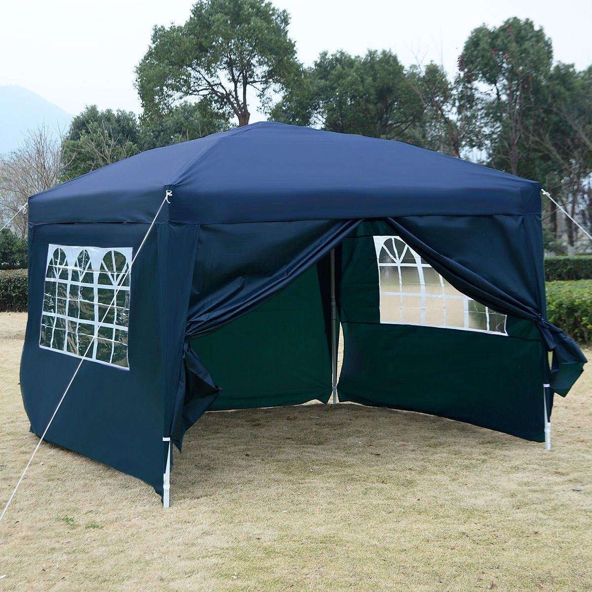 GOPLUS 10u0027X10u0027 EZ POP UP Tent Gazebo Wedding Party Canopy Shelter Carry Bag & GOPLUS 10u0027X10u0027 EZ POP UP Tent Gazebo Wedding Party Canopy Shelter ...