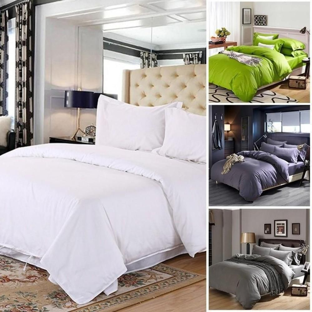 1pcs Comfort Plain Duvet Cover Bed Sheet Twin Full & King