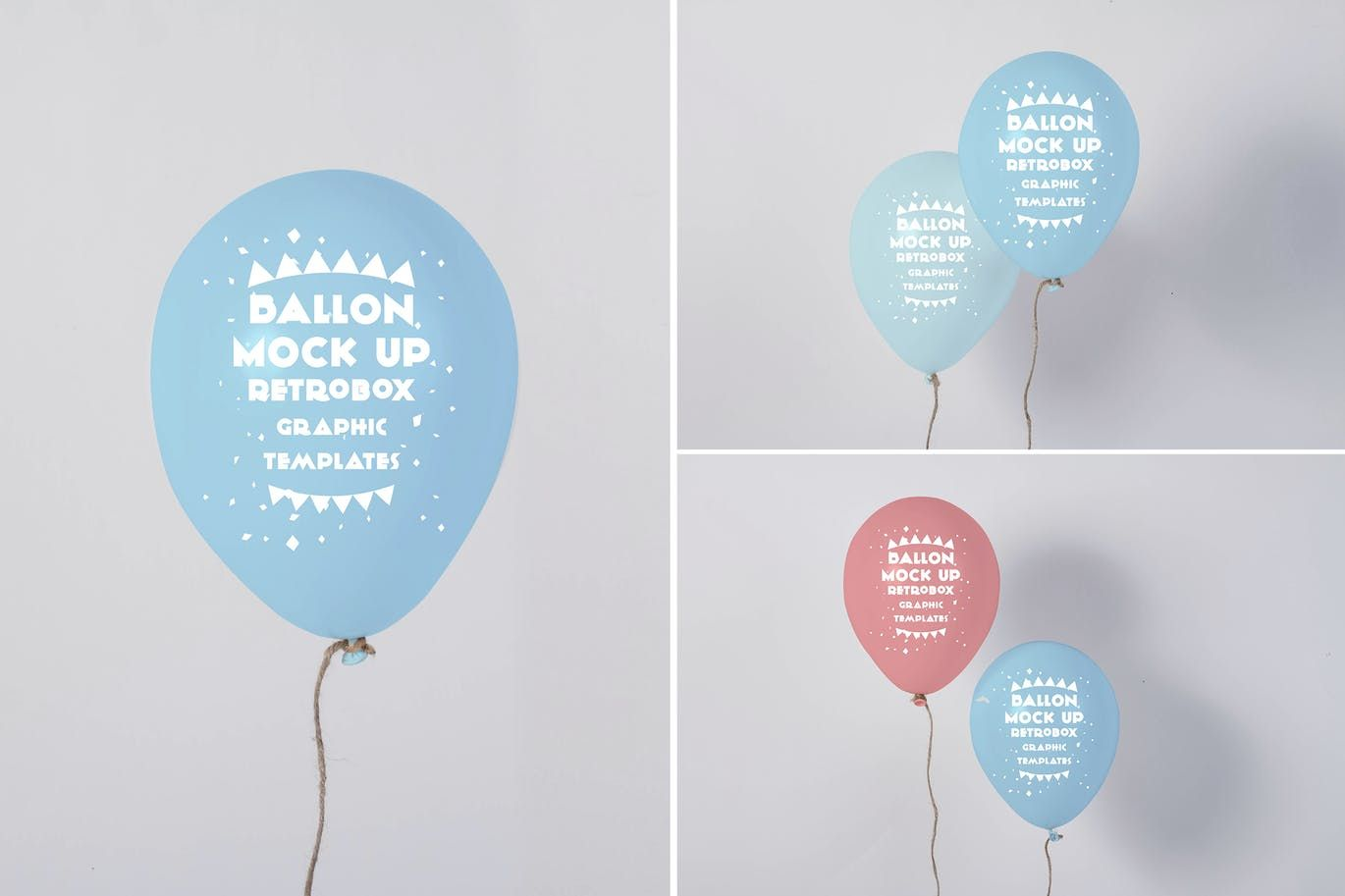 Balloon Mock Up By Retrobox On Envato Elements Balloons Psd Template Free Mockup