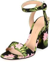 b9206831166 Gianvito Rossi Tandi Floral Ankle-Wrap 100mm Sandal
