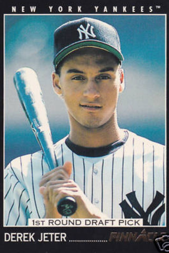 Derek Jeter Rookie Card All Things Yankee Derek Jeter Rookie