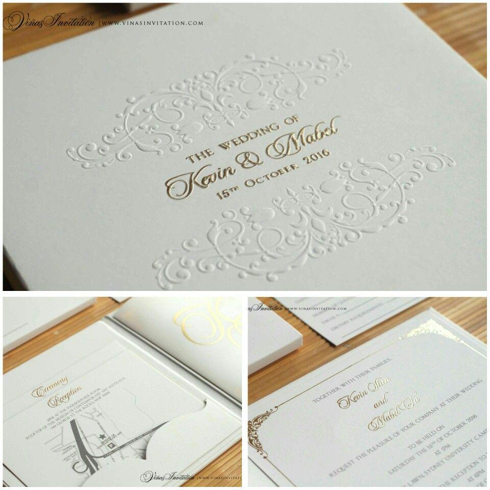 Vinas invitation. Custom invitation. Custom design. Simple elegant ...