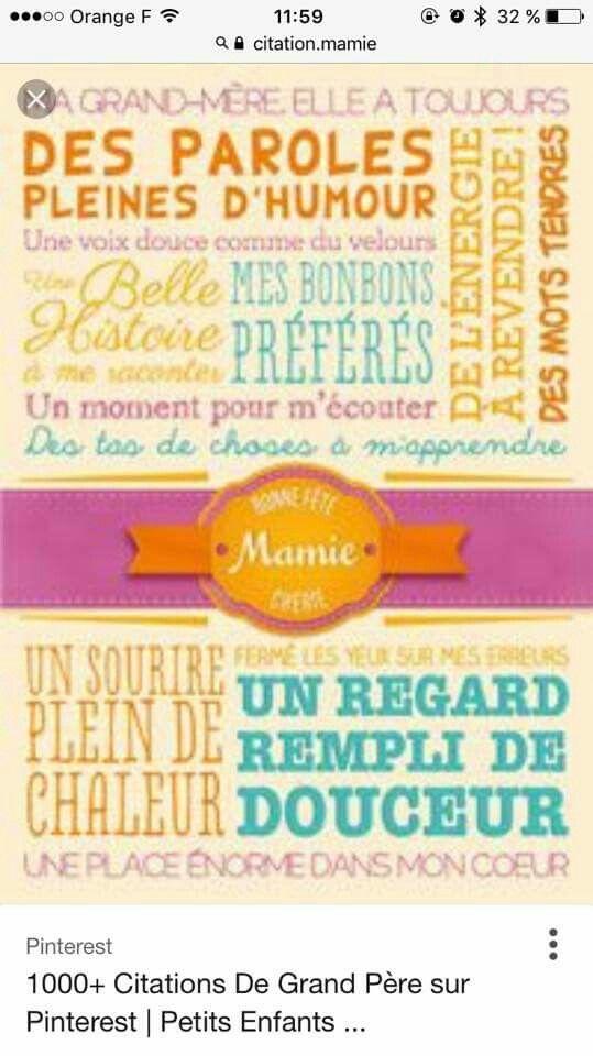 Aujourd Hui Com Les Mamies Sympas : aujourd, mamies, sympas, Cadeau, Mamie, Mamie,, Fête, Grands, Mères,