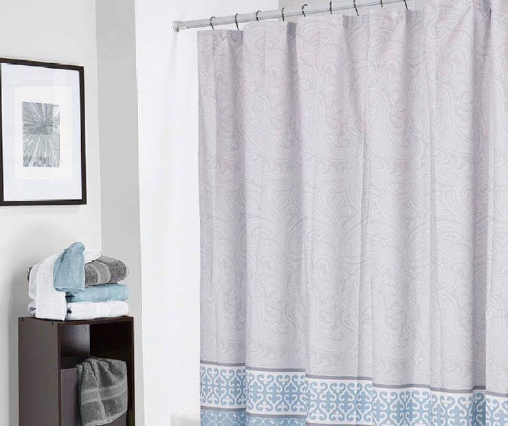 Living Colors Diana Paisley Microfiber Shower Curtain 72 Big Lots Shower Curtain Curtains Designer Shower
