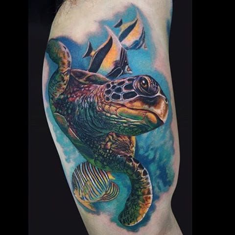 Turtle tattoo | Turtle tattoo, Mermaid tattoos, Hawaiian ...