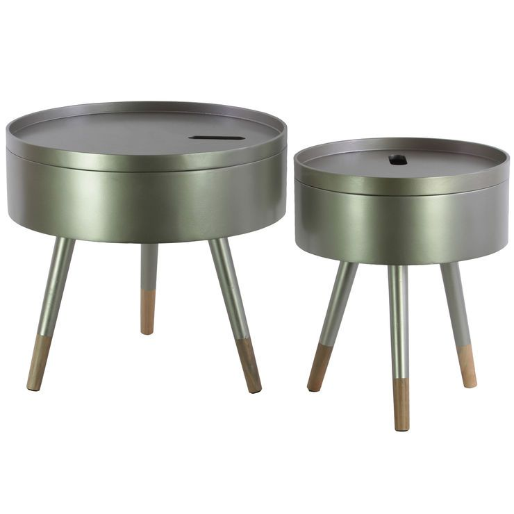 15 Champagne Drum Table Drum Table Table Affordable Furniture