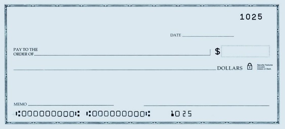 Printable personal blank check template check blank for Large fake check template