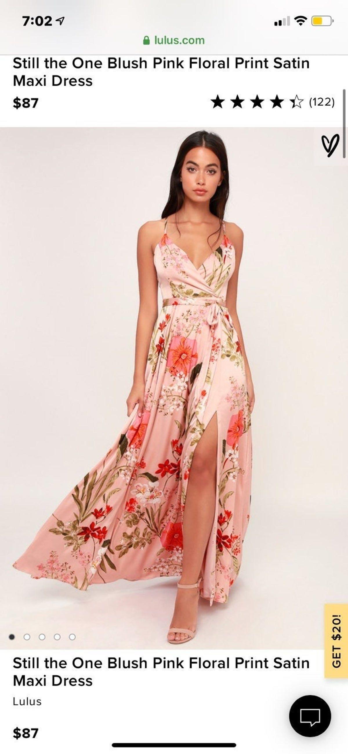 Pink floral maxi dress in 2020 | Maxikleid mit blumen ...