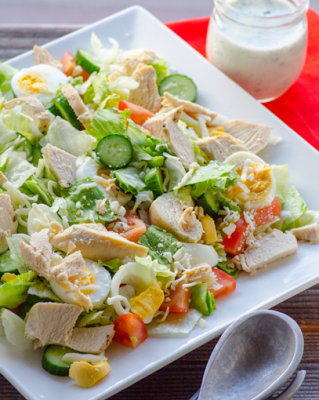 Dieta salada com frango