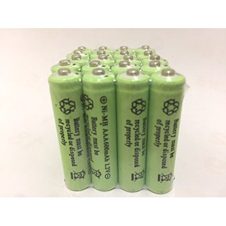 20 Pcs Rechargeable Nimh Aaa 600mah Ni Mh Batteries For Solar Powered Light D20 Walmart Com Solar Powered Lights Solar Power Nimh