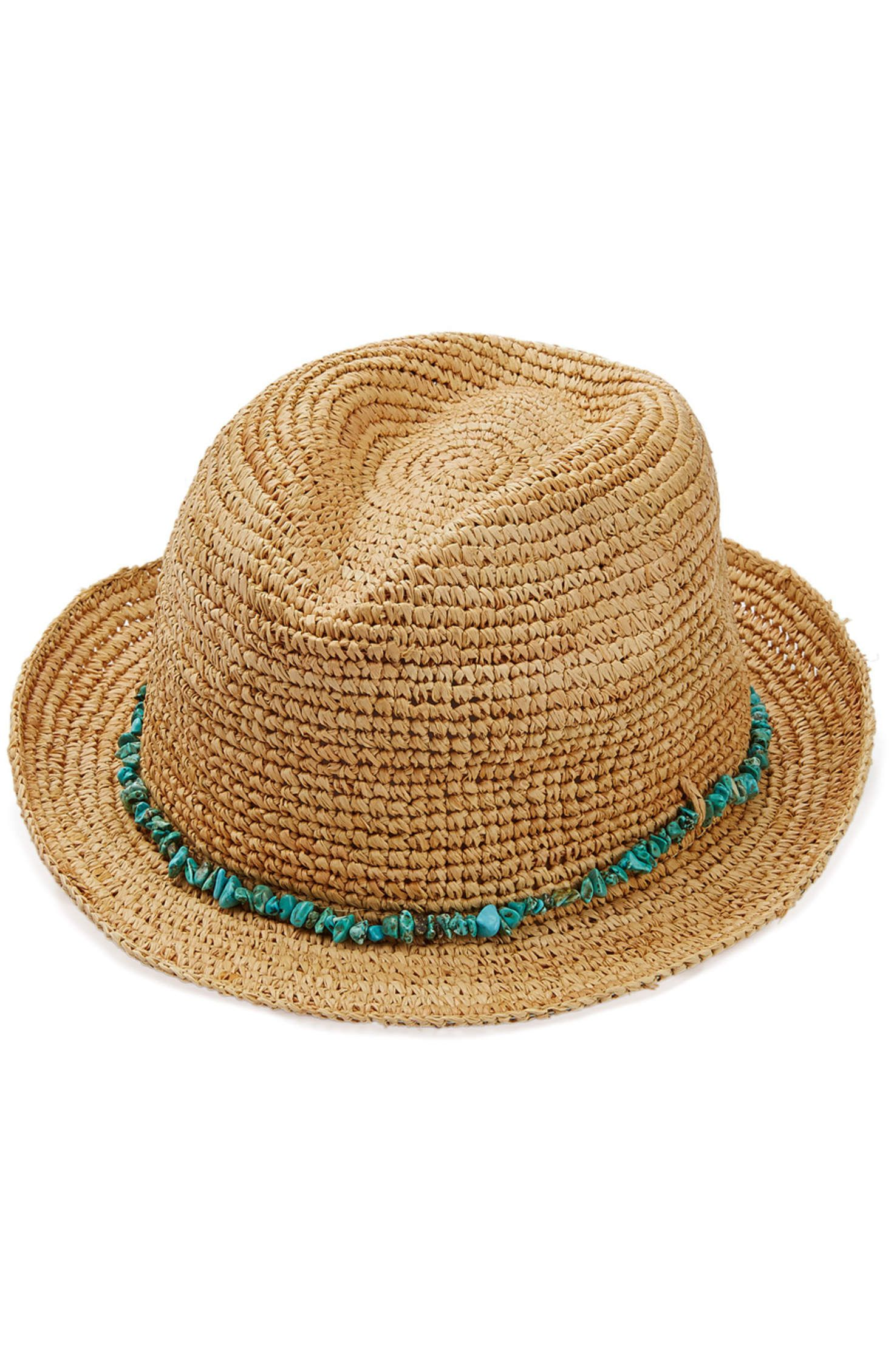 Melissa Odabash - Embellished Raffia Hat  b67326f07cb2