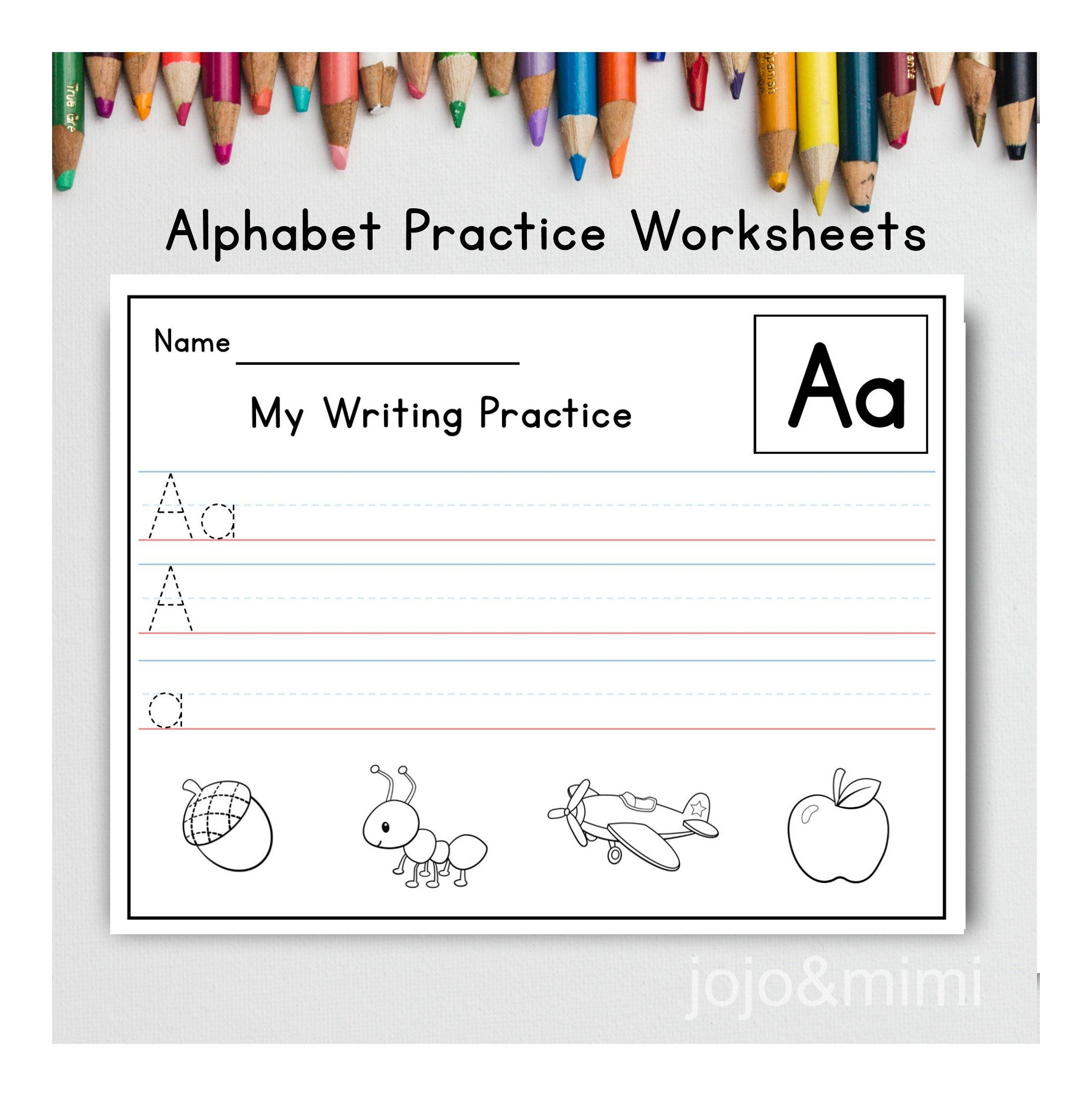 Handwriting Practice Letters Aa Zz Worksheets Printable
