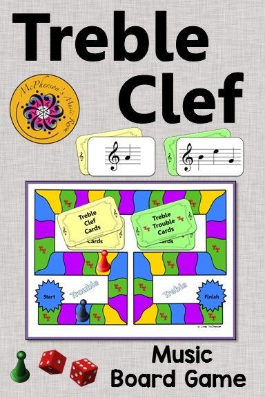 Treble Clef Treble Trouble {music board game for reviewing note