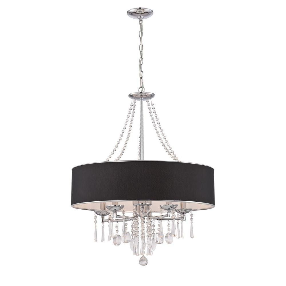 Gatsby Era Pendant Chandelier With Crystal Accents