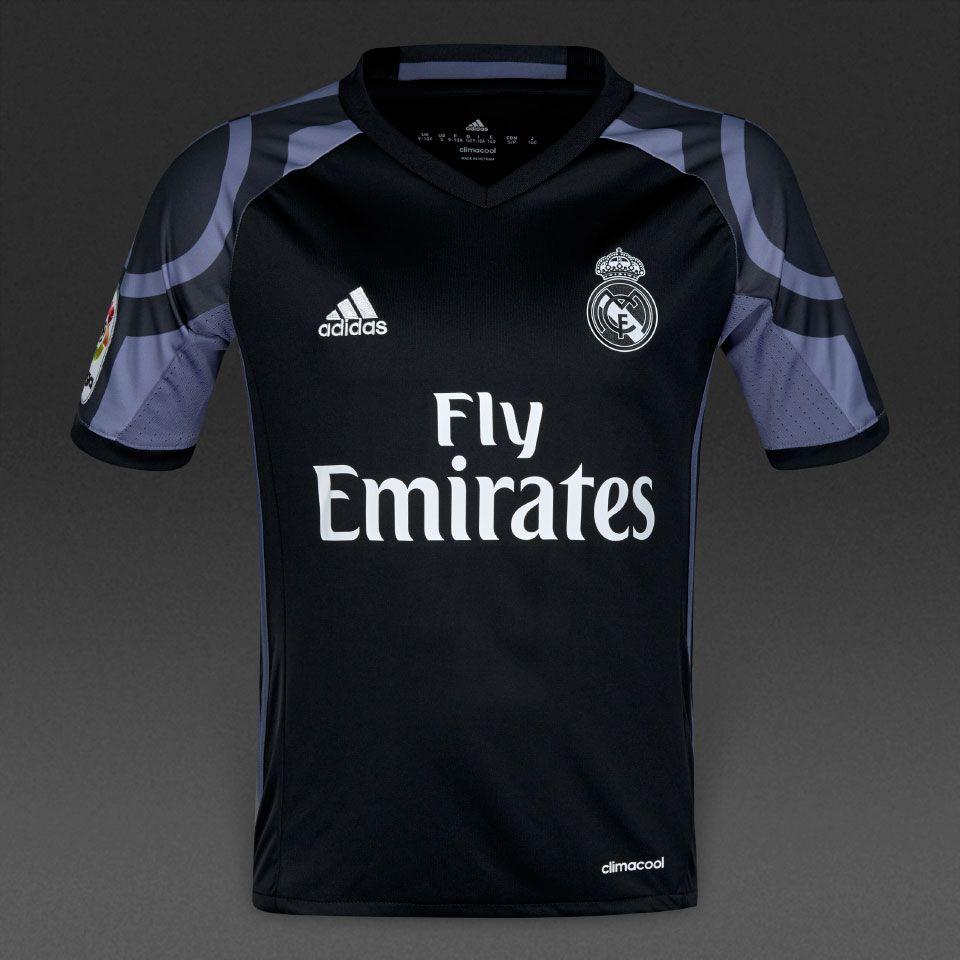 adidas Real Madrid 16/17 Kids 3rd Shirt - Boys Replica - Shirts -  Black/Super Purple