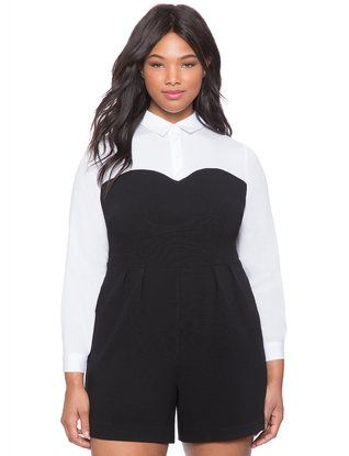 Faux Bustier Romper from eloquii.com