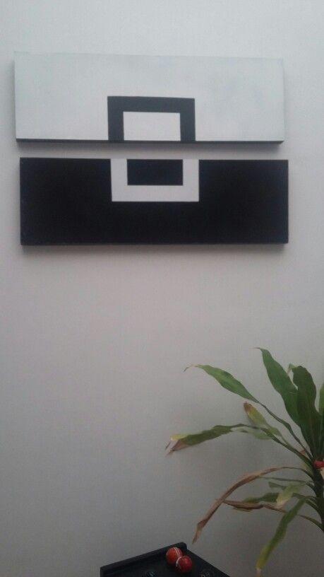 Cuadro blanco y negro #diy #b&w