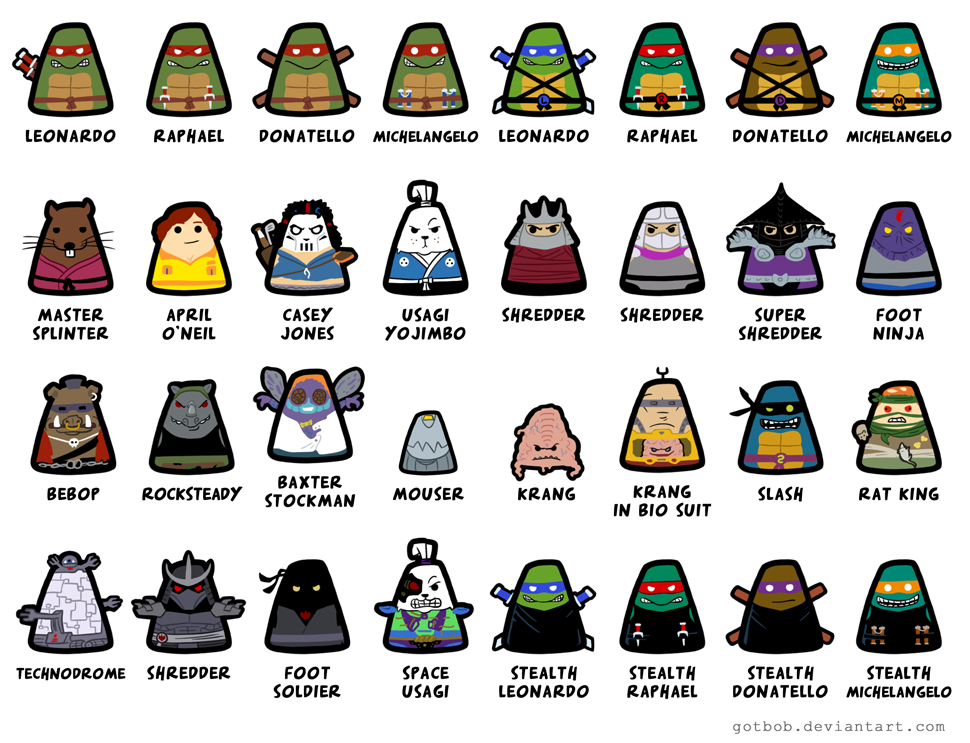 Tmnt Blobs By Thebobguy On Deviantart Tmnt Tmnt Characters Ninja Turtles