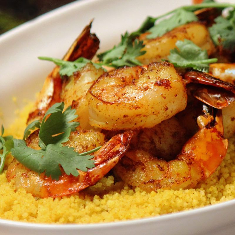 Spiced Couscous With Shrimp And Chermoula Recipe Couscous Easy