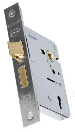 Gridlock 3 Lever Sashlock Fire Rated Suitable With Modern Lever Handles Mortice Lock Sash Lock Stainless Steel Bathroom