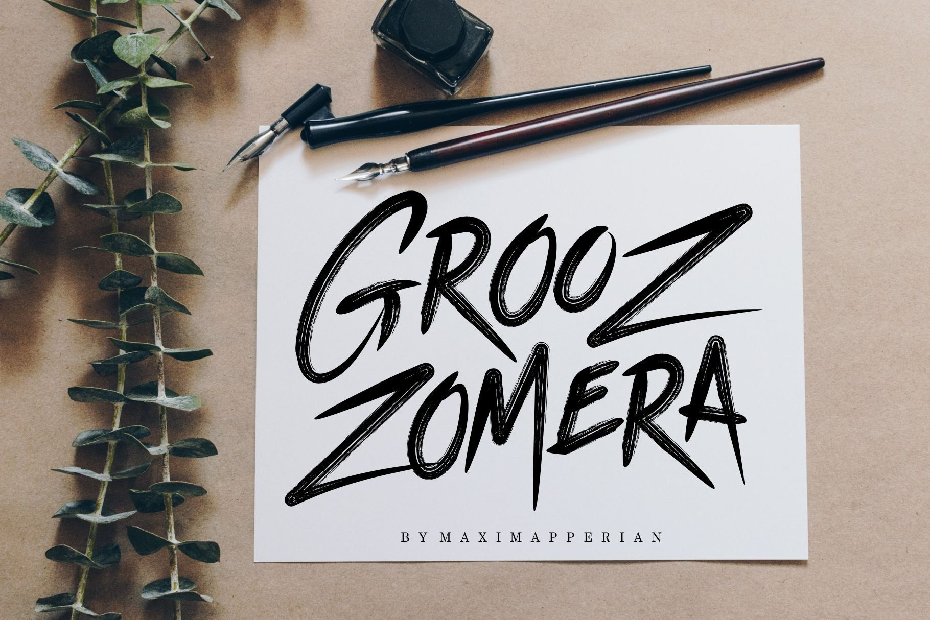 Grooz Zomera Brush Font Hand Lettering Fonts Silhouette Fonts
