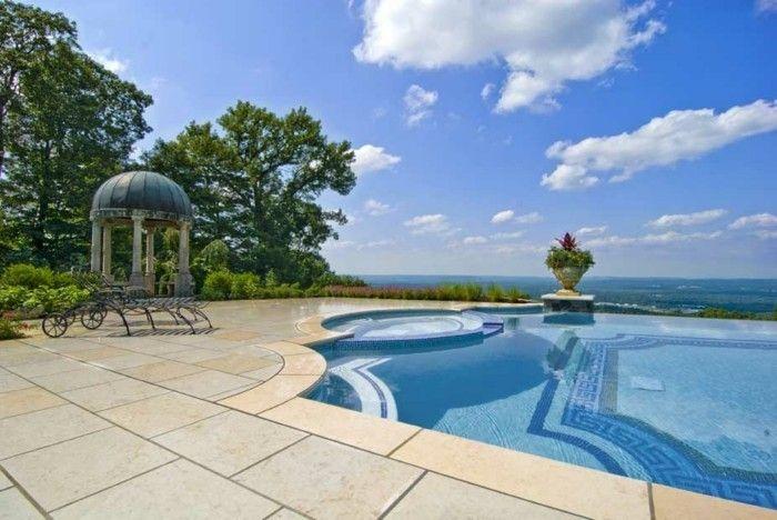 Luxus pool im garten  luxus pool ganz tolle idee für einen family pool im garten ...