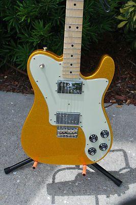 1d1cb0f0f4f 2012 Fender FSR 72 Telecaster Deluxe-Vegas Gold Flake,w/ Bag- Nearly New!  (1404)