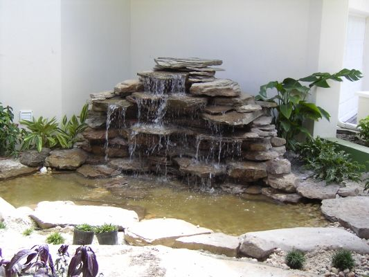 Small Backyard Ponds And Waterfalls Interior Courtyard