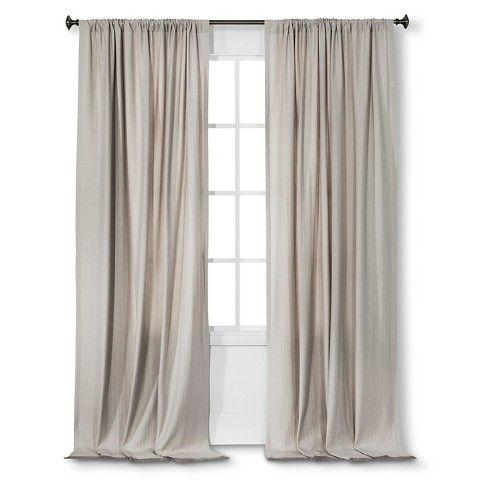 Nate Berkus Fringed Herringbone Curtain Panel Creamy