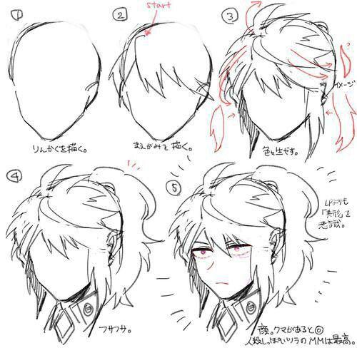 Boy Hair Tuto Long Manga Hair Drawing Male Hair Boy Hair Drawing