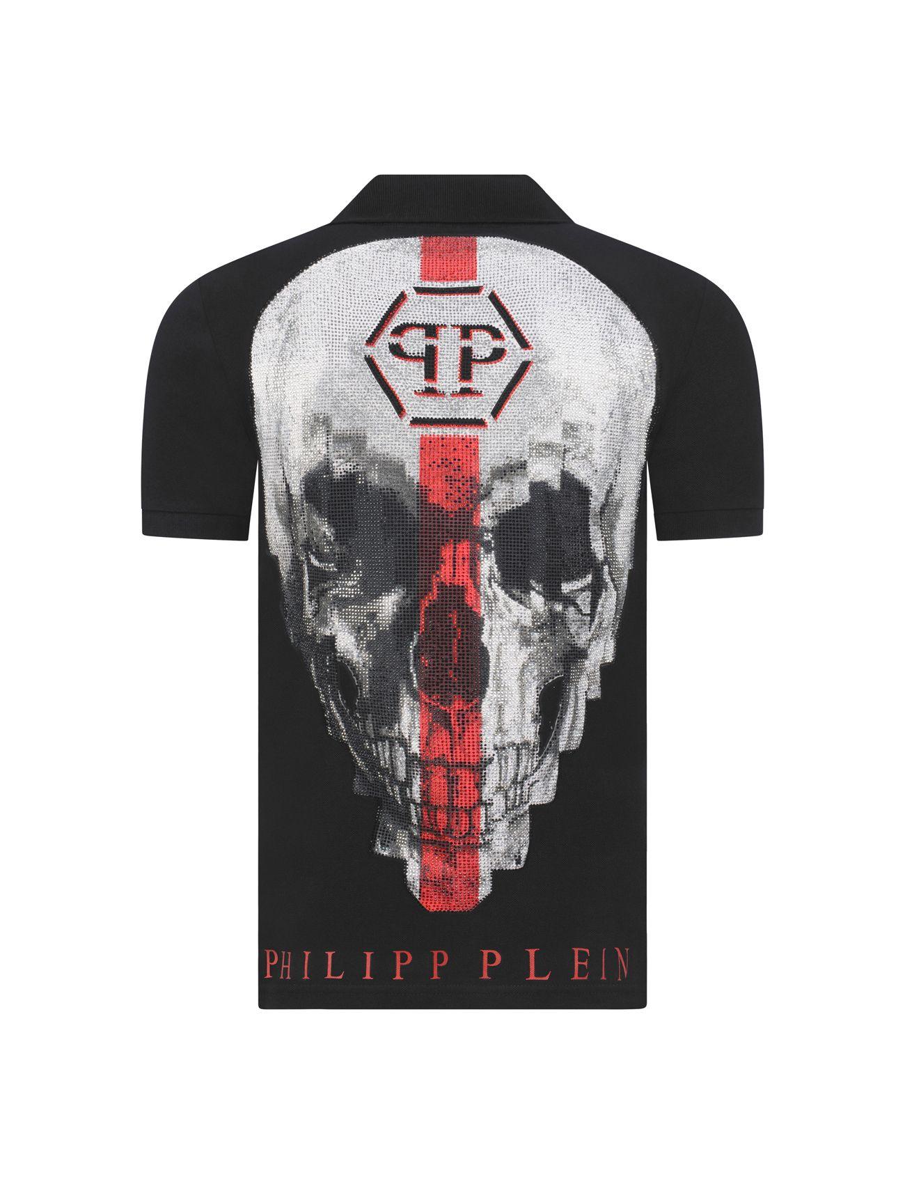 H4philipp Pleinh4dark Polo Shirt Redblack From Ashes